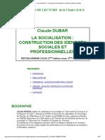 La Socialisation _ Construction Des Identités Sociales Et Professionnelles