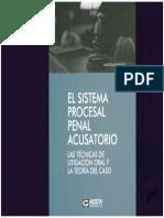 EL sistema procesal penal acusatorio