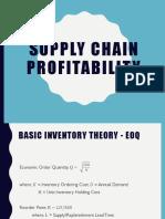 Supply Chain Profitability