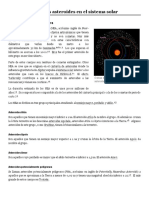 Asteroide, distribucion