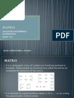 Lecture 1 - Matrix