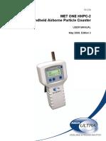 Manual del contador de partícula MET ONE