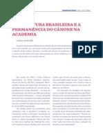 Artigo Observatrio a Literatura Brasileira e a Permanencia Do Canone Na Academia