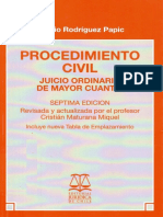 Procedimiento Civil. Juicio Ordinario de Mayor Cuantia - Ignacio Rodriguez P