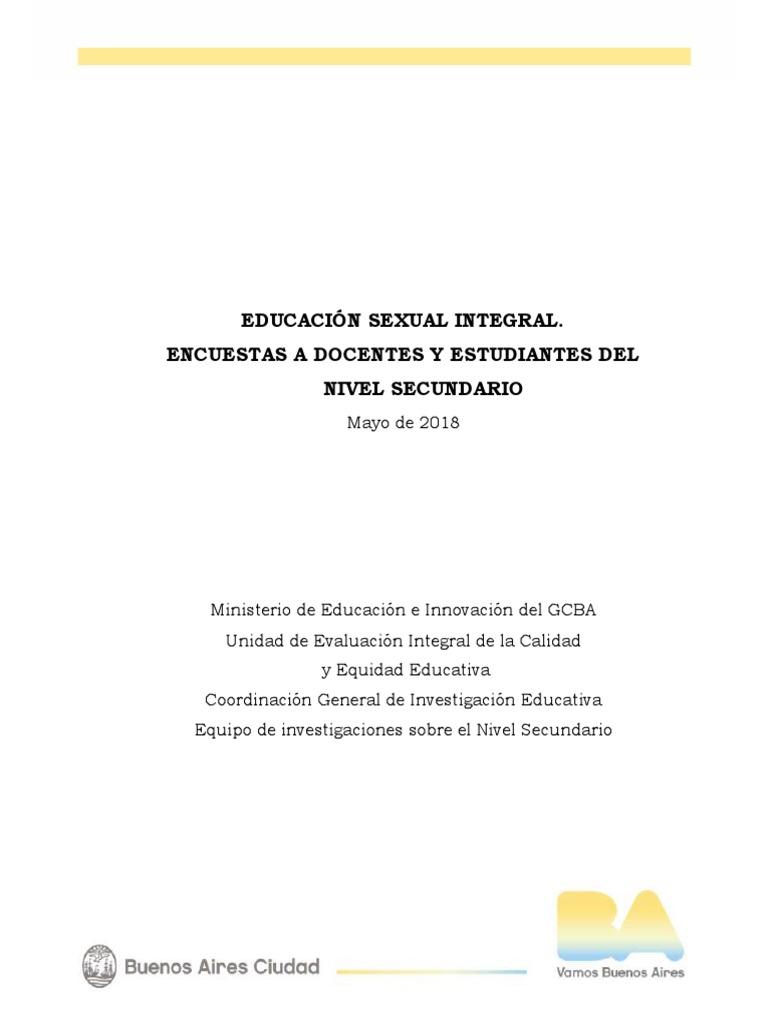 Ueicee 2018 Informe Esi 2 Educación Sexual Educación
