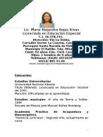 Curriculum Maria Alejandra
