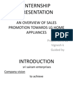 An Overview of Sales Promotion Towards Lg Home