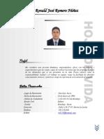 Hoja de Vida Ronald Romero Nuñez - Actualizada