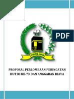 Proposal Peringat Hut Ri Ke-73