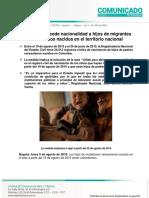 Comunicado Colombia