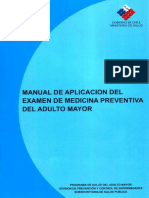 Manual de aplicación del examen de medicina preventiva del adulto mayor