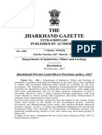 Jharkhand Private Land Direct Purchase Policy 2017