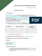 Solicitud Registro Directiva de Organizaciones Sociales