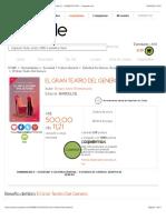 El Gran Teatro Del Genero por BERGER ANNE EMMANUELLE - 9789873731167 - Cúspide.com
