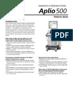 Product Data Aplio 500 Platinum Series