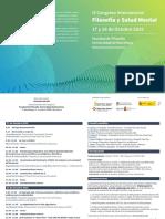 Programa Congreso Internacional Filosofia y Salud 2019