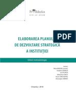 Elaborarea planului de dezvoltare strategică a instituției