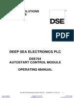 Deep Sea 704 Manual