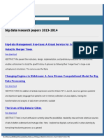 Big Data Research Papers 2013-2014