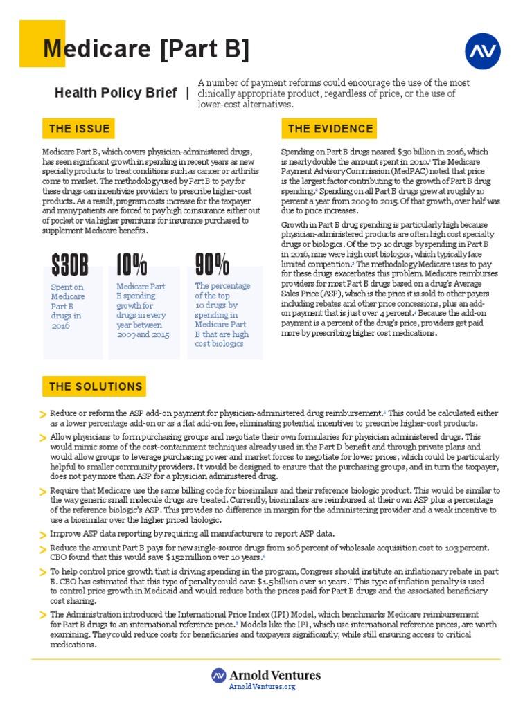 Medicare Part B | Medicare (United States) | Economics Of
