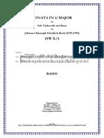 JCF Bach Cello Sonata in G Major -- Basso