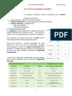 Apuntes_F&Q3_T1(I) EL conocimiento científico