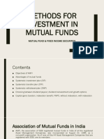 Methods of Investment in Mutual Fund