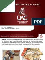 TEMA 4. Materiales de Construcción y Determinación de Sus Costos
