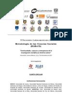 II Encuentro Latinoamericano de Metodología de las Ciencias Sociales