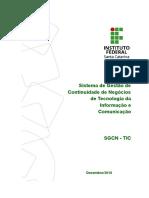Sistema de Gestão de Continuidade de Negócios de TI Do IFSC