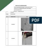 Punch List de Observaciones- Pab 1b Zn 1