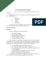 Processos cronológicos de gerenciamento de projetos