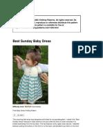 1435 Best Sunday Baby Dress Pattern