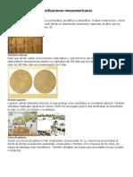 Características de Las Civilizaciones Mesoamericanas