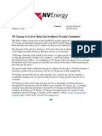 NV Energy to Lower Rates for Southern Nevada Customers