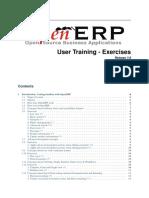 Openerp User Training v7 Exercises 3.0 Update