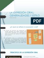 3.1 La Expresión Oral