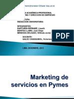 Marketing de Servicios en Pymes