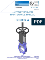 Knife Gate Valve - Instructions and Maintenance Manual_series A