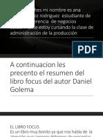 Precentacion de Libro Focus