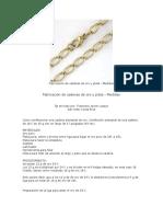 Fabricación de Cadenas de Oro y Plata