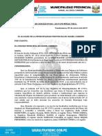 ACUERDOS DE CONCEJO N°001-2019