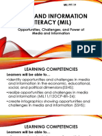 9.MIL 8. Opportunities ,Challenges, And Power of Media and Information