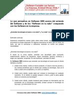 Software GBS - Una Guia para Arrendar o Comprar el Software que necesita - en la Nube o en su Empresa