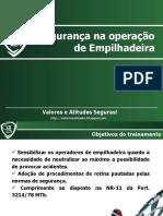 Segurança na operação de empilhadeira