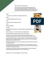 Técnicas Regionales y Comunitarias en La Preparación de Alimentos