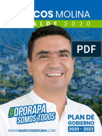 Programa de Gobierno del Candidato  Marcos Molina  2020-2023