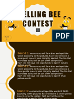 Spelling Bee Contest Flashcards Picture Description Exercises 103307 (1)