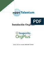 Instalación OrgPlus 2019 - Licencia Full