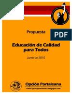 Propuesta Educación de Calidad para Todos